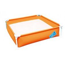Детский каркасный бассейн для деток 3-6 лет, оранжевого цвета, ТМ BestWay, размер 122-122-30,5 см арт. 56217