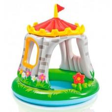 """Детский надувной бассейн """"Королевский дворец"""" с озером и полянкой, ТМ Intex, размер 122-122 см арт. 57122 NP"""