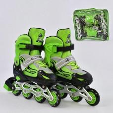 Ролики детские со светящимся передним колесом, Best Roller, колёса PU, размер 38-41, зеленые арт. 25519/02255 44271-06 lvt-25519/02255
