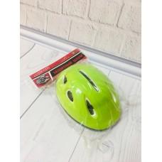 Детский защитный средний шлем с регулируемым ремешком, 7 вентиляционных отверстий, салатового цвета,  арт. 0013 43423-06 lvt-0013green