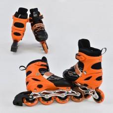 Ролики детские оранжевые со светящимся передним колесом, Best Roller, колёса PU, размер 30-33 арт. 25507/50405 44223-06 lvt-25507/50405