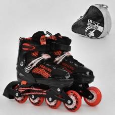 Ролики с пяточным тормозом, Best Roller, колёса с подшипниками (полиуретан), размер L 39-42, красные арт. 5800 44213-06 lvt-5800Lred