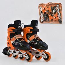 Ролики детские оранжевые со светящимся передним колесом, Best Roller, колёса PU, размер 38-41 арт. 25521/03311 44285-06 lvt-25521/03311