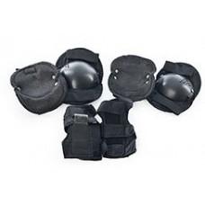 Защита для детей (наколенники, защита запястий и налокотники), застежки на липучках, черного цвета арт. 0032 43525-06 lvt-0032black
