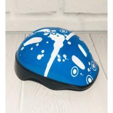 Защитный Детский Шлем для спортивных занятий с отверстиями для вентиляции и ремешком, синий 26х19х12см