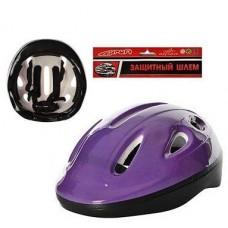 Детский средний защитный шлем с регулируемым ремешком, 7 вентиляционных отверстий, фиолетового цвета арт. 0013 44126-06 lvt-0013violet