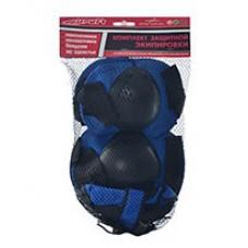 Защита для детей (наколенники, защита запястий и налокотники), застежки на липучках, сиbt арт. 0032 43526-06 lvt-0032blue