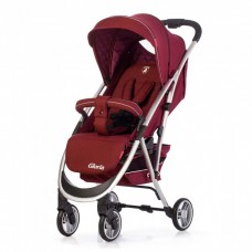 *Детская прогулочная коляска с корзиной (+подстаканник,чехол), модель Carrello Gloria, цвет Rose Red CRL-8506