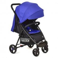 Детская Прогулочная Коляска JOY, съемный капюшон 3 положения, 5-точеч. ремни, чехол на ножки, синий арт. 200 Т