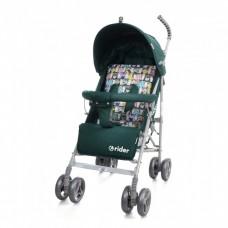 *Детская прогулочная коляска-трость в льне с корзиной и 3х точечным ременем, ТМ Baby Care, цвет Green арт. 0002