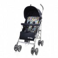 *Детская прогулочная коляска-трость в льне с корзиной и 3х точечным ременем, ТМ Baby Care, цвет Grey арт. 0002