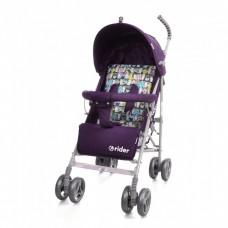 *Детская прогулочная коляска-трость в льне с корзиной и 3х точечным ременем, ТМ Baby Care, цвет Purple арт. 0002