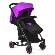 Детская прогулочная коляска с функцией укачивания с корзиной, ТМ Joy, фиолетовая арт. 609 Т