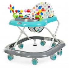 Детские Ходунки со съемной музыкальной панелью и мягким сиденьем, регулировка по высоте, колеса, серый - Bambi