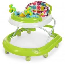 Детские складные Ходунки El Camino Dolphin Green: противоударный бампер, игровая панель, салатовый 70х50х56см*