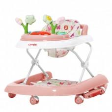 *Ходунки детские 3 в 1 (толкатель, ходунки, качалка) с музыкой и подсветкой от Carrello Fiore, Rose арт. 9606