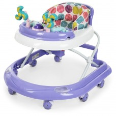 Детские складные Ходунки El Camino Dolphin Violet: противоударный бампер, игровая панель, фиолет. 70х50х56см*