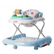 *Ходунки детские 3 в 1 (толкатель, ходунки, качалка) с музыкой и подсветкой от Carrello Torino, Blue арт. 9603/3