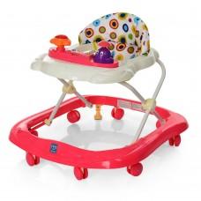 Детские музыкальные ходунки с игровой съемной панелью и 3 положениями по высоте, розового цвета арт. 3664