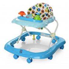 Детские музыкальные ходунки с игровой съемной панелью и подвижными деталями, голубого цвета  арт. 3664
