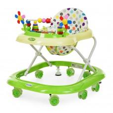 Детские Ходунки со съемной музыкальной панелью, мягким сиденьем, регулировка по высоте, колеса салатовый - Bambi
