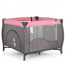 Детский просторный игровой манеж с аксессуарами от El Camino Arena, Pink Len, размер 24х23х91 см арт. 1030
