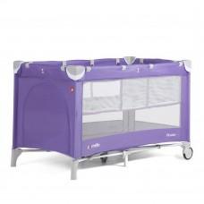 *Детский манеж с двойным дном и аксессуарами от Carello Piccolo, Spring Purple, размер 23х23х86 см арт. 9201