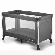 *Детский прямоугольный манеж с аксессуарами от Carrello Polo, Charcoal Grey, размер 23-23-86 см арт. 11601