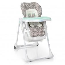 Детский стульчик для кормления от ТМ Bambi, узор-MINT, размер стульчика 33-60-120 см арт. 3890