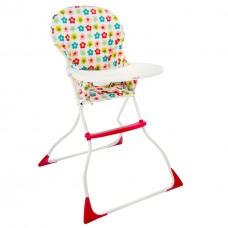 """*Детский компактный стульчик для кормления со съемным и моющимся чехлом арт. LY 100 """"Цветочки"""""""