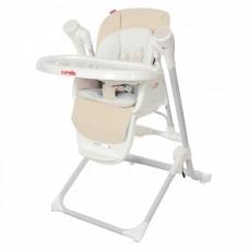 *Детский стульчик для кормления 3 в 1 (стульчик - шезлонг - качалка) от Carrello Triumph, Cream Beige арт. 10302