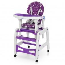 Детский Стульчик-трансформер для кормления 3в1: 3 положения спинки, качалка, столик, колеса - 72х44х37см Bambi*