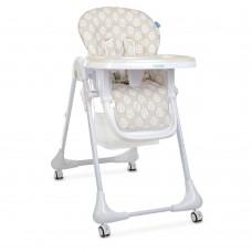 Детский Стульчик для кормления: регулировка высоты и угла наклона, съемный столик, колеса - Bambi Leaf Beige