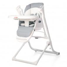 *Детский стульчик для кормления 3 в 1 (стульчик - шезлонг - качалка) от Carrello Triumph, Cloud Grey арт. 10302