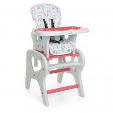 Детский Стульчик для кормления Трансформер - 3 положения спинки, столик+стульчик 61х73х107см Bambi Flowers Pink