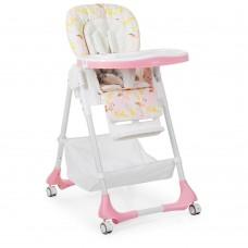 Детский стульчик для кормления от Bambi, 5-точечные ремни, 7 положений, розового цвета арт. 3822-5