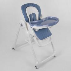 Детский складной Стульчик для кормления Toti на колесиках со съемной столешницей и съемным вкладышем, синий