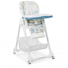 Детский стульчик для кормления от Bambi, 5-точечные ремни, 7 положений, голубого цвета арт. 3822-6