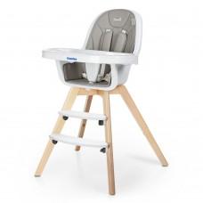 Детский Дизайнерский Стульчик для кормления El Camino Organic, съемный чехол, 98х67х67 см, Grey, арт. 1050