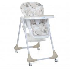 Детский регулируемый Стульчик для кормления Bambi Mommy Bear Beige: съёмная столешница, колеса 60х88х109см