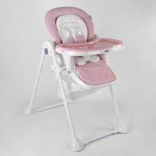 Детский складной Стульчик для кормления Toti на колесиках со съемной столешницей и съемным вкладышем, розовый