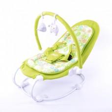 *Детский шезлонг - качалка с музыкальной дугой и игрушками от ТМ Baby Tilly, салатового цвета арт. BT-BB-0004 салатовый 43711-06 lvt-BT-BB-0004 lime