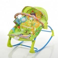 Детский Шезлонг Качалка Колыбель, виброрежим, дуга с подвесными игрушками, музыкальный мобиль арт. 306-5 44262-06 lvt-306-5