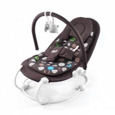 Детский шезлонг - качалка с музыкальной дугой и игрушками от ТМ Baby Tilly, кофейного цвета арт. BT-BB-0004 кофейный 43712-06 lvt-BT-BB-0004 brown