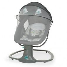 Укачивающий центр для малышей Mastela: Шезлонг Качели с пультом, таймером, 5 режимов, темно-серый 71х68х84см