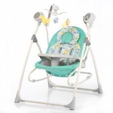 *Детский шезлонг - качалка с пультом Tilly Nanny, таймером  и музыкальным мобилем, цвет - Green Dino арт. 0005 43513-06 lvt-0005 Green Dino