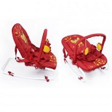 *Детский трансформирующийся шезлонг - качалка со съемным чехлом от ТМ Baby Tilly, красного цвета арт. BB-0001 red 43713-06 lvt-BB-0001red