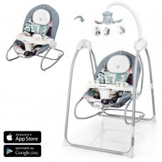*Детский шезлонг- качалка (колыбель) с музыкальным мобилем и управлением от приложения AppleAPP от Camino арт. 1020-11 44184-06 lvt-1020-11