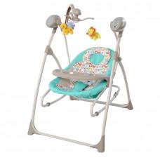 *Детский шезлонг - качалка с пультом Tilly Nanny, таймером  и музыкальным мобилем, цвет - Turquoise арт. 0005 43844-06 lvt-0005 Turquoise