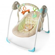 Детское кресло - качалка (шезлонг, колыбель) с  музыкой (6 мелодий) и игрушками от TM Bambi арт. 32008 44384-06 lvt-32008